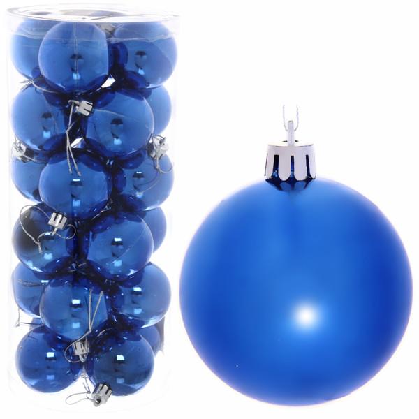 Новогодние шары 6 см (набор 24 шт)
