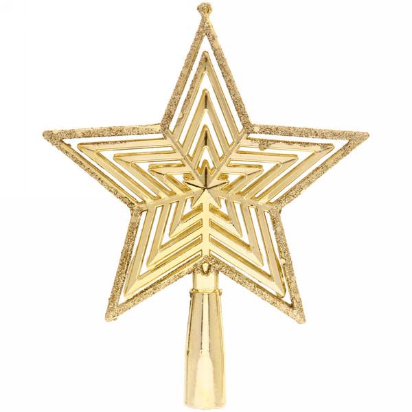 Звезда на ёлку 15см