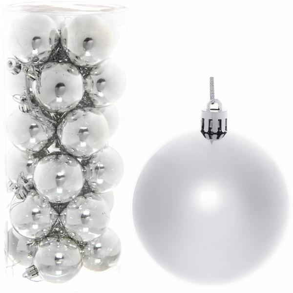 Новогодние шары 7 см (набор 24 шт)