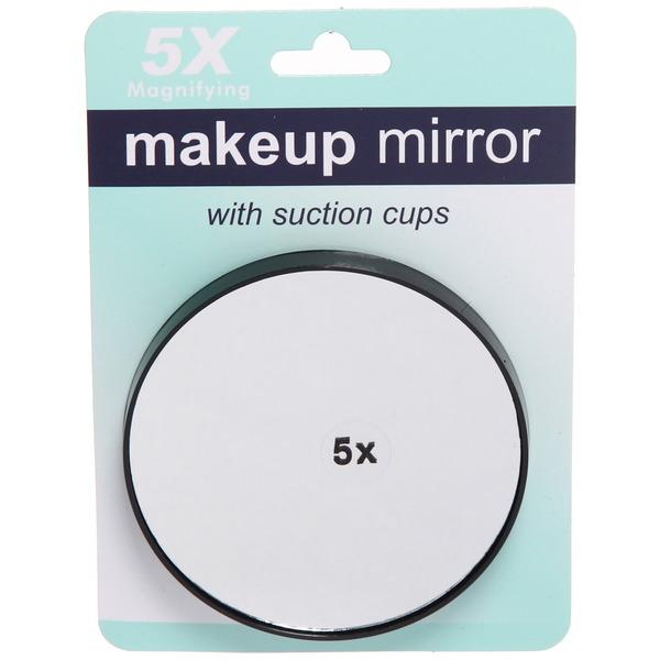Зеркало косметическое с увеличением в 5 раз d-9см