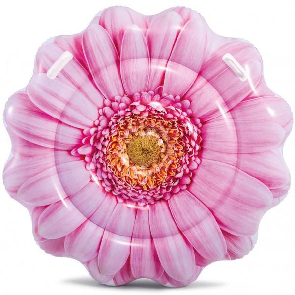 Плот надувной 142*142 см Pink Daisy Flower Intex (58787)