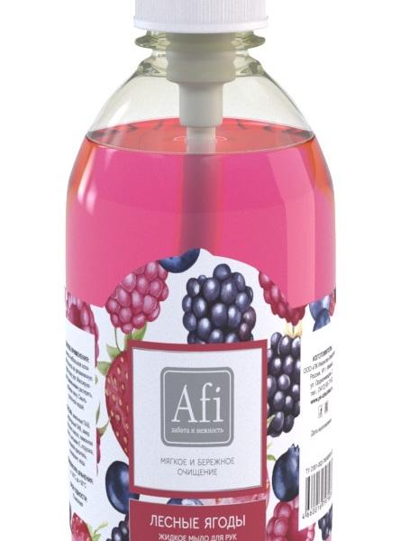 Мыло жидкое AFI Лесные ягоды дозатор 500 мл