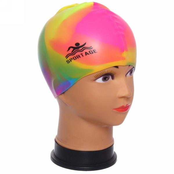 Шапочка для плавания силиконовая Sportage Multicolor