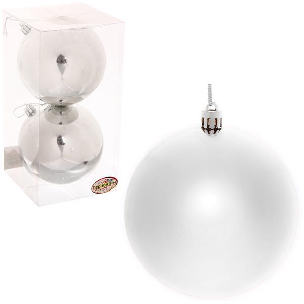 Новогодние шары 10 см (набор 2 шт)