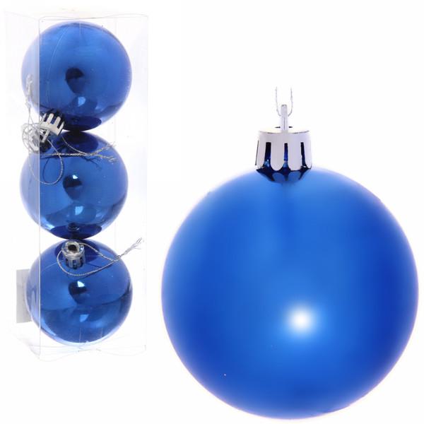 Новогодние шары 6 см (набор 3 шт)