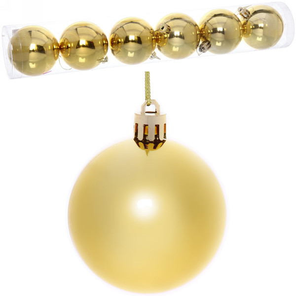 Новогодние шары 6 см (набор 6 шт)