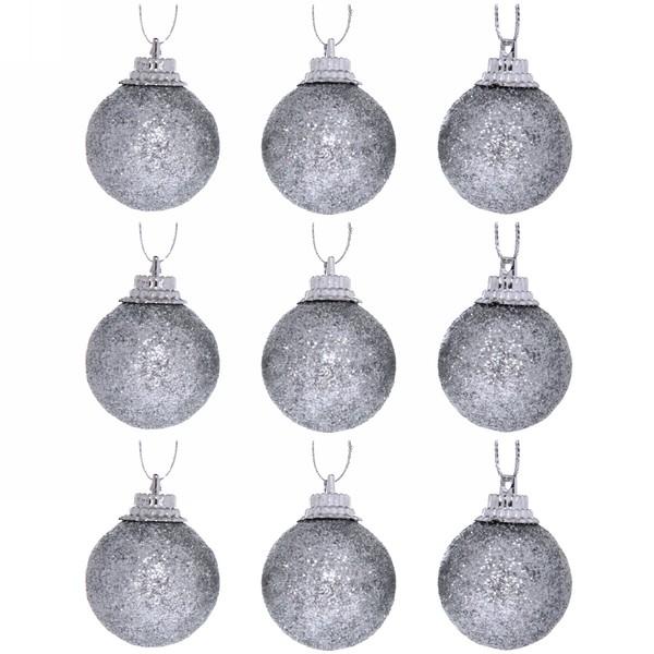 Новогодние шары 3 см (набор 9 шт)