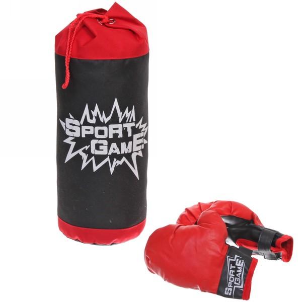 Набор тренировочный для бокса Boxing Set: груша 44 см, 2 перчатки (коробка)