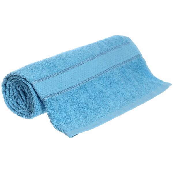 Полотенце махровое 70*130 светло-голубое